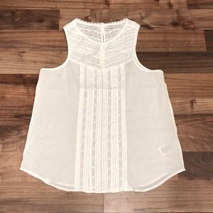 GAP Lace Pintuck Feminine Sleeveless Blouse